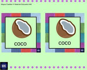 Memorama de Frutas y Verduras para colorear