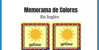 memorama de colores en ingles