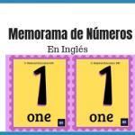 memorama de Números en ingles pdf