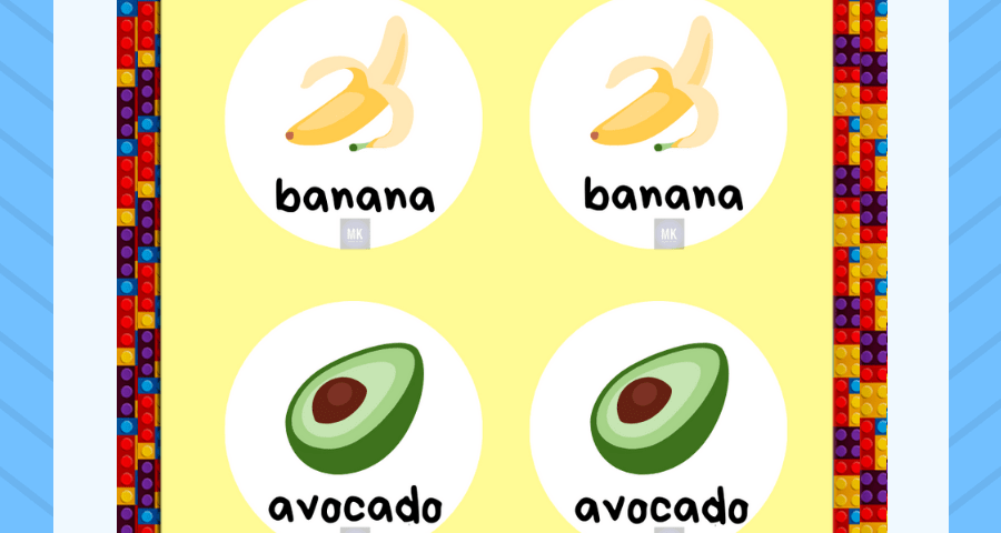 memorama de frutas en ingles pdf