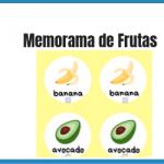 memorama de frutas en ingles